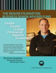 Donor-aDviseD funDs - The Denver Foundation