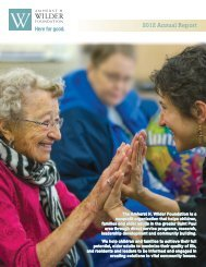 2012 Annual Report.pdf - Amherst H. Wilder Foundation