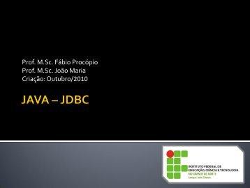 jdbc - Ifrn
