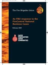 5030 FBU Response - of the Fire Brigades Union