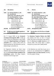 Dr. Andreas Richter, LL.M. Dr. Jens Escher Heinri - P+P Pöllath + ...