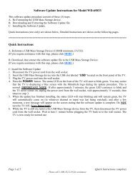 Instructions for Software Upgrade - Mitsubishi Digital Electronics ...