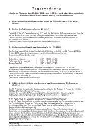Mit diesem Link die komplette Tagesordnung als PDF-Download!