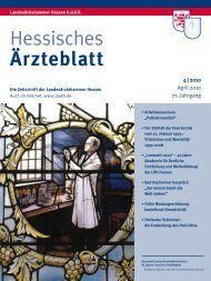 Hessisches Ärzteblatt April 2010 - Landesärztekammer Hessen