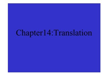Chapter14:Translation