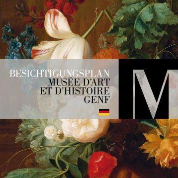 BESICHTIGUNGSPLAN MUSéE D'ART ET D'HISTOIRE GENF