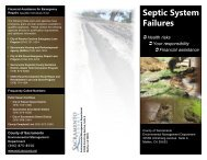 Septic System Financial Assistance Brochure - Environmental ...