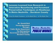 Lessons Learned from Research in Innovative Resurfacing and ...