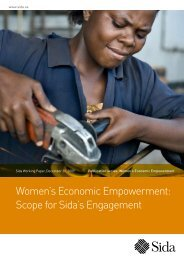 Women's Economic Empowerment: Scope for Sida's Engagement