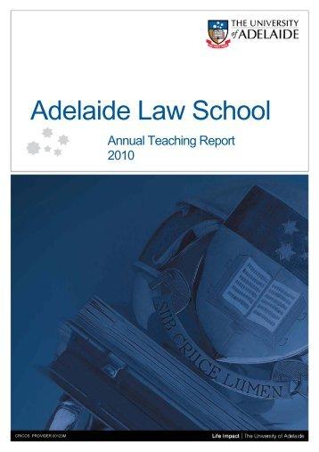 Associate Teacher Programme - the Adelaide Law School