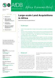 Large Scale land Acquisitions in Africa - African Development Bank
