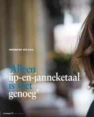Interview Annemarie van Gaal - Verbond van Verzekeraars
