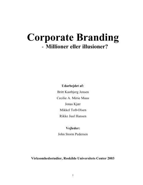 Corporate Branding - Kommunikationsforum