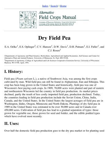 Dry Field Pea - Northern Pulse Growers Association