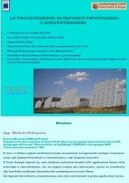 la progettazione di impianti fotovoltaici a concentrazione