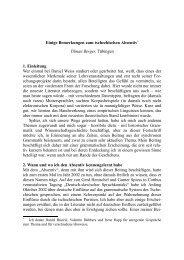 Einige Bemerkungen zum tschechischen Absentiv* Tilman Berger ...