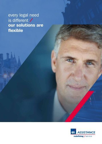 every legal need is different our solutions are flexible - AXA Assistance