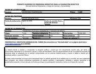 FORMATO SUGERIDO DE PROGRAMA OPERATIVO PARA LA ...