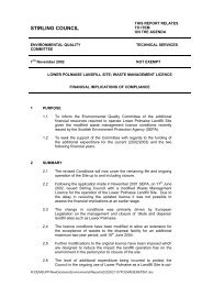 eq202lower polmaise landfill site - Stirling Council - Decisions On Line