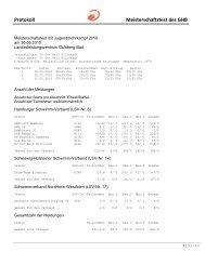 Protokoll Meisterschaftstest des GHB - Hh-swim-info.de
