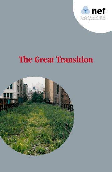 The Great Transition - Transiciones