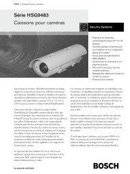 Série HSG9483 Caissons pour caméras - SERIE