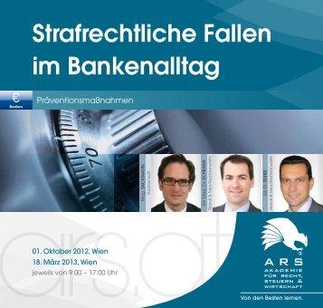 Strafrechtliche Fallen im Bankenalltag - Brandl & Talos