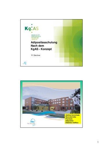 Adipositasschulung Nach dem KgAS - Konzept - Adipositas MV