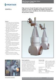 High pressure forged Sempell valves provide the ideal solution to ...