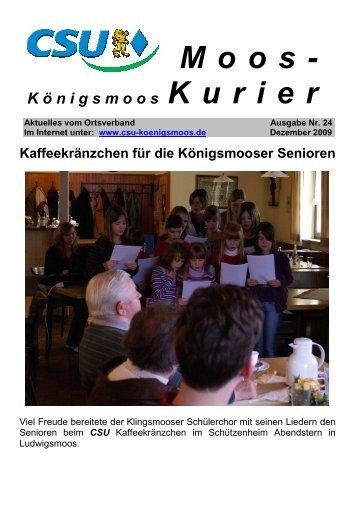 K ö nigsmoos Moos- Kurier - CSU Königsmoos
