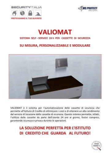 Brochure Valiomat 2012 - SECURITY ITALIA