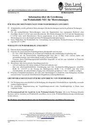 Information über die Gewährung von Wohnbeihilfe NEU für ...