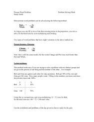Percent Word Problems Study Guide - Warren Hills Regional School ...