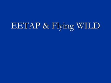 Project WILD and EETAP - Flying WILD