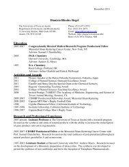 DRS CV Decemebr - The University of Texas at Austin