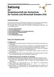 Satzung der StudentInnenschaft - StuRa HTW Dresden