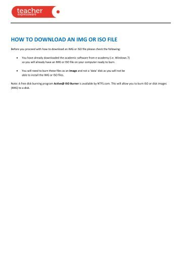 HOW TO DOWNLOAD AN IMG OR ISO FILE - Phoenix Software