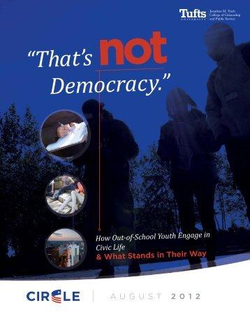 """That's not Democracy."" - Circle"