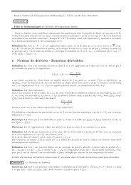 1 Notions de dérivées - Fonctions dérivables. - LMPA
