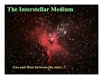 The Interstellar Medium Interstellar Medium