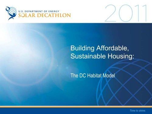 DC Habitat for Humanity Model - Solar Decathlon