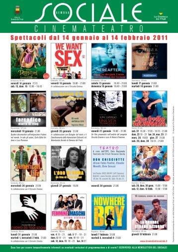 Proiezioni 2011 - La Cineteca del Friuli