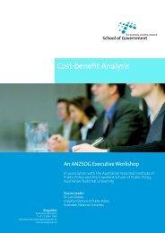 Cost-benefit Analysis - Australia and New Zealand School of ...
