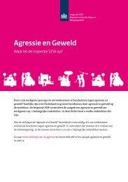 Flyer: Agressie en Geweld: Waar let de ... - Inspectie SZW
