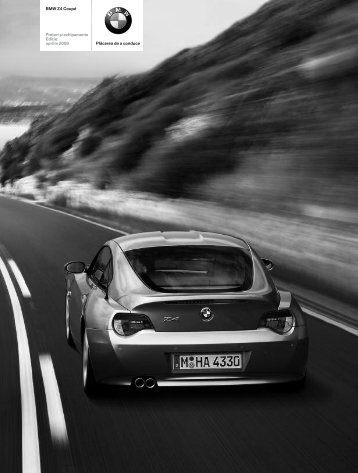 Descărcare. Lista de preţuri curente pentru modelul BMW Z4 Coupe
