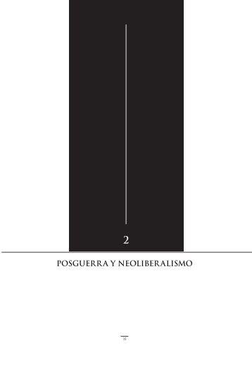 Posguerra y neoLiberaLismo