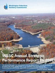 WSSC Annual Strategic Performance Report for FY 2011