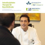 Interdisziplinäre Therapie für Bauchfellkrebs - Marienhospital Herne