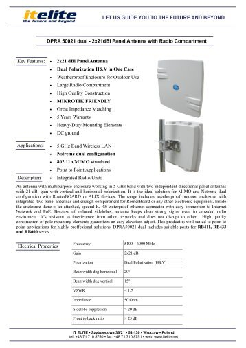 2x21dBi Panel Antenna with Radio Compartment.pdf - LinkShop