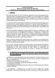 cahier des charges national - ARS Poitou-Charentes
